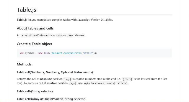 WebBuzz Un outil JavaScript pour faciliter la gestion de vos tableaux pour vos sites web - Table