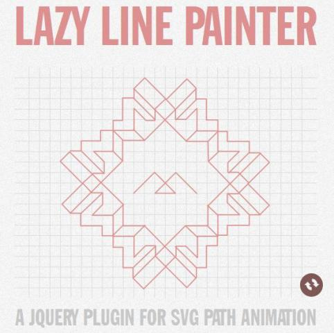 WebDesign Animations de chemin SVG avec jQuery Lazy - Lazy Line Painter