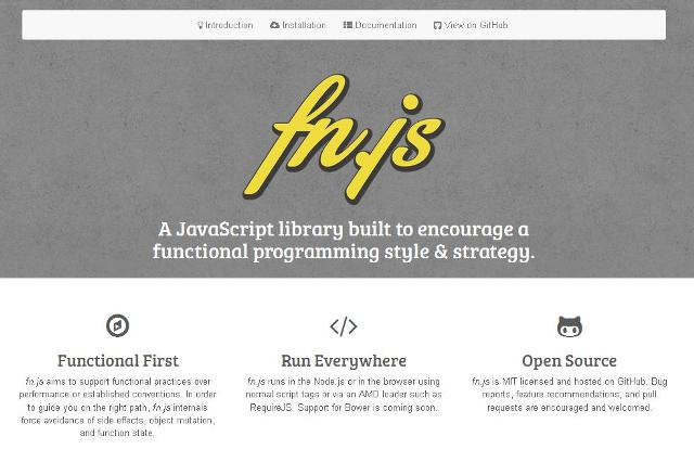 WebDesign Encourager un style fonctionnel de programmation - fn.js