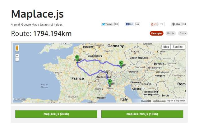WebDesign Plugin Javascript pour simplifier lintégration de Google Maps - Maplace.js