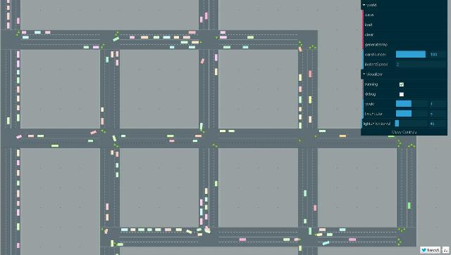 WebDesign Simulateur de traffic ecrit en CoffeeScript et HTML5 - RoadTrafficSimulator