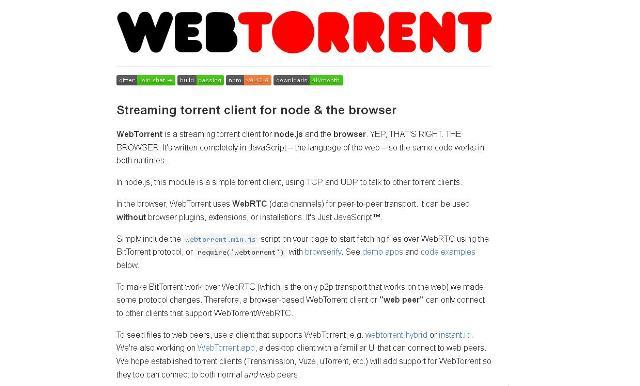 WebDesign Un Client Torrent pour navigateur écrit en JavaScript - WebTorrent
