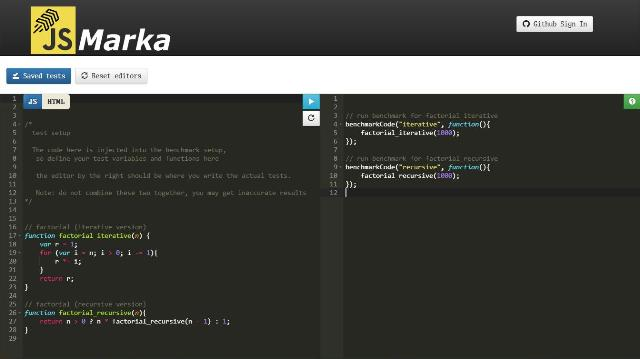 WebDesign Un benchmark JavaScript pour tester vos applications - jsmarka