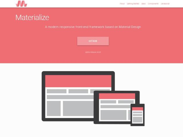 WebDesign Un cadre de developpement de sites web basé sur Material Design - Materialize
