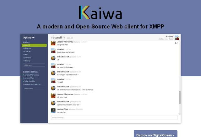 WebDesign Un client JavaScript de Chat pour votre site web - Kaiwa