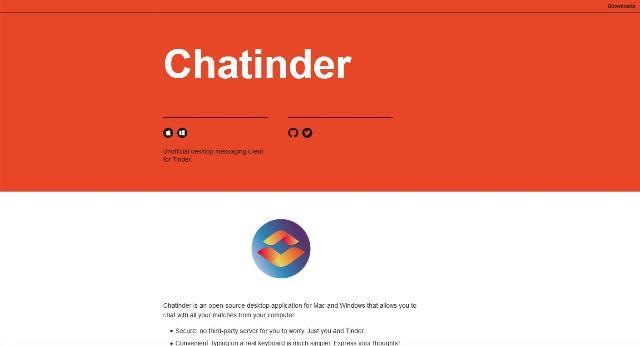 WebDesign Un client de messagerie JavaScript pour se connecter à Tinder - Chatinder