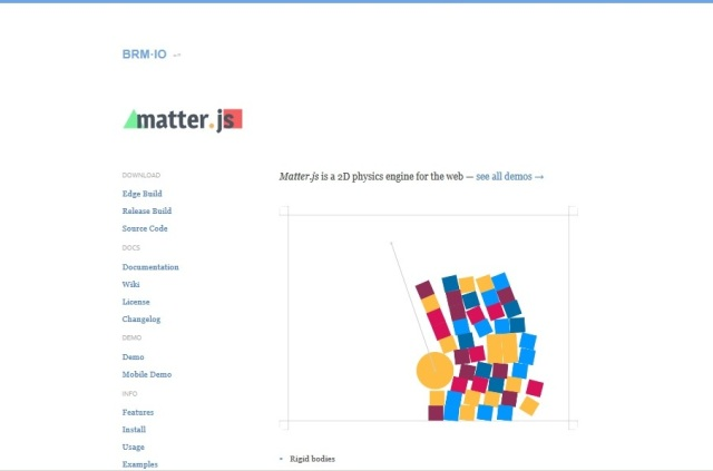 WebDesign Un moteur JavaScript 2D pour vos sites web - Matter