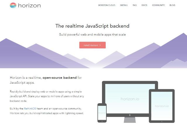 WebDesign Un moteur temps-réel codé en JavaScript - Horizon