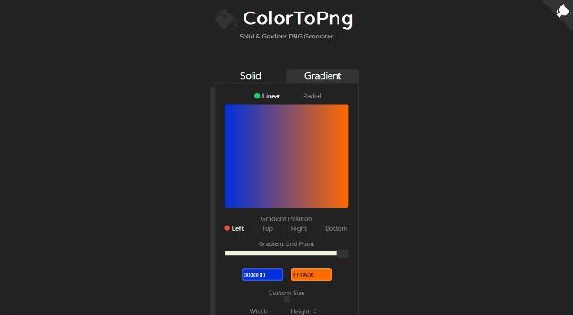 WebDesign Un outil JavaScript en ligne pour générer un fond de site web - colortopng