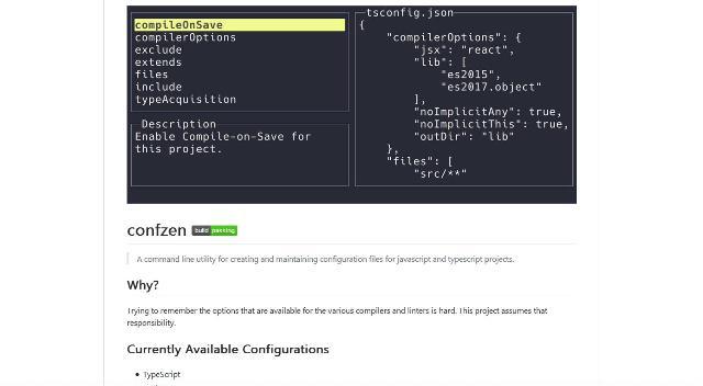 WebDesign Un outil JavaScript pour créer et gérer des fichiers de configuration - confzen