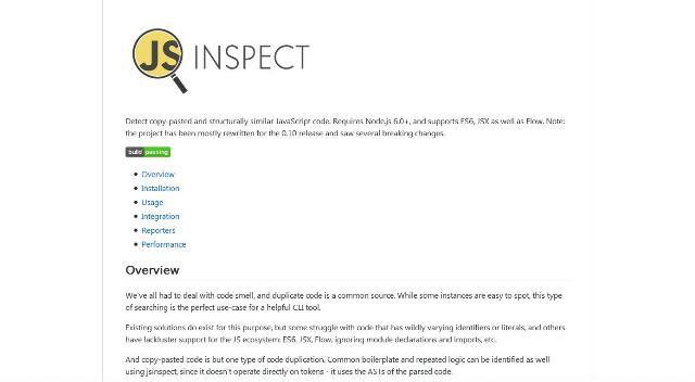 WebDesign Un outil JavaScript pour détecter le code dupliqué - Jsinspect