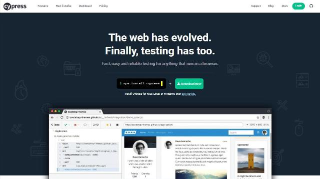 WebDesign Un outil javascript de test complet pour vos sites webs - Cypress