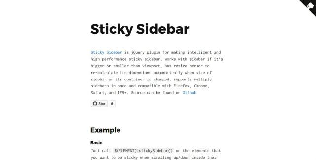 WebDesign Un plugin jQuery pour une gestion du défilement intélligent - Sticky Sidebar