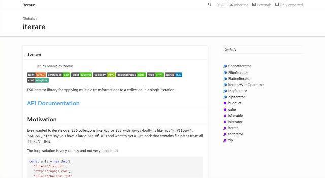 WebDesign Une Bibliothèque JavaScript pour gérer de grande collection en une seule fois - iterare
