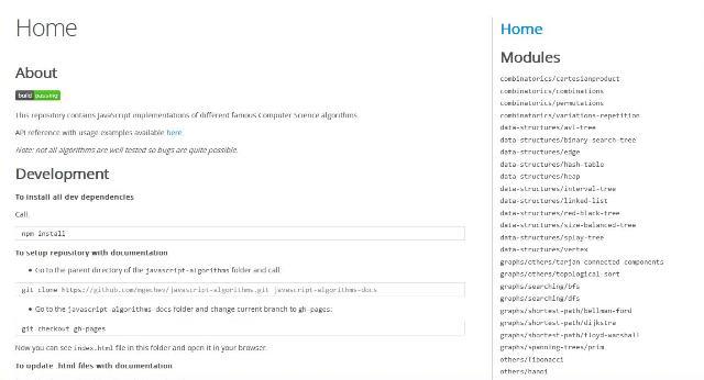 WebDesign Une collection dalgorithmes scientifiques codé en JavaScript - Javascript-algorithms