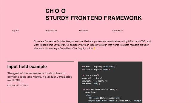WebDesign Une micro API JavaScript pour développer vos applications - CHOO