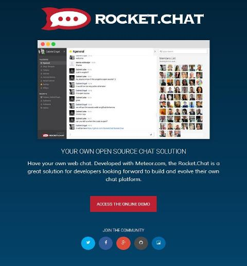 WebDesign Une solution de chat open source complète - Rocket.Chat