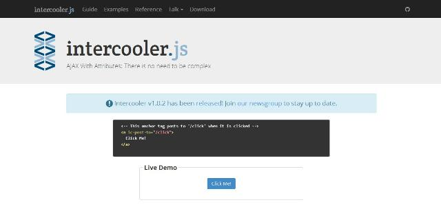 WebDesign Utilisez AJAX simplement dans vos applications et sites web - intercooler.js