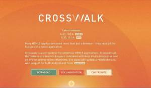 Runtime Web pour les applications HTML5 ambitieuses - Crosswalk