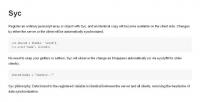 Bibliothèque de synchronisation de données client/serveur - Syc