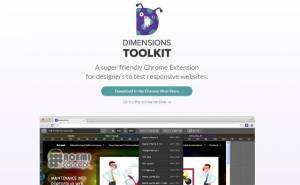 Essayez vos projets de sites web adaptatif - Dimensions Toolkit