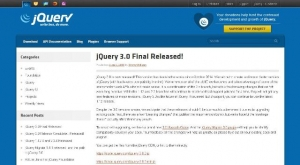 La version 3.0 de la bibliothèque JavaScript jQuery vient de sortir