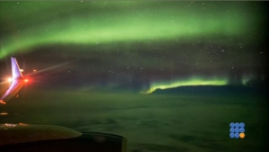 WebBuzz du 16/01/2017: Aurores boréales vues à 35000 pieds-The Northern Lights 35,000ft