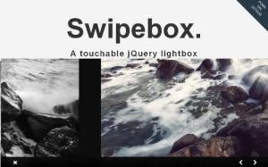 Visionneuse jQuery avec support tactile - Swipebox