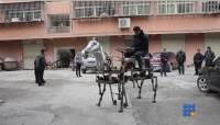 WebBuzz du 29/01/2015: Chine un fermier fabrique son propre cheval-China a farmer build its own horse