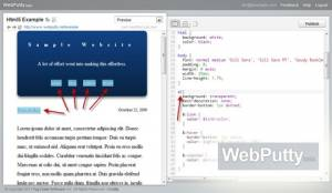 Edition CSS Open Source & service d'hébergement: WebPutty