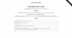 Un simple enregistreur JavaScript audio pour votre site web - dead-simple-audio-recorder