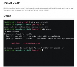 Un shell Unix capable d'excuter des commandes JavaScript - JShell