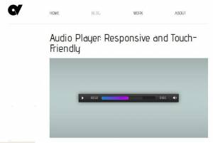 Lecteur audio javascript réactif avec support tactile - AudioPlayer.js