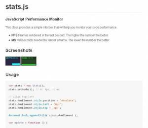 Un Analyseur de performances JavaScript pour vos sites web - Stat.js