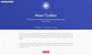 Un ensemble de composants React respectant le Google's Material Design - react-toolbox