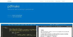 Application client/serveur d'impression PDF codé en JavaScript - pdfmake