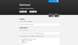 Une Bibliothèque JavaScript de dessin simple - sketchpad
