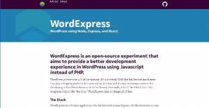 Un nouveau CMS remplaçant le PHP par le JavaScript - WordExpress