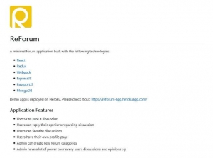 Une application JavaScript de Forum - ReForum