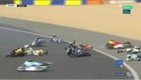 WebBuzz du 22/05/2017 : Moto3 Grand prix de France de l'huile sur la piste-Moto3 Grand prix de France oil on racetrak