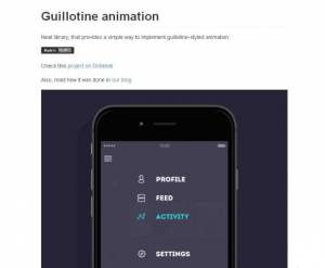 Un nouveau style d'animation de menu pour votre application Android - GuillotineMenu-Android