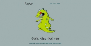 Un générateur JavaScript de sites web statiques - Reptar
