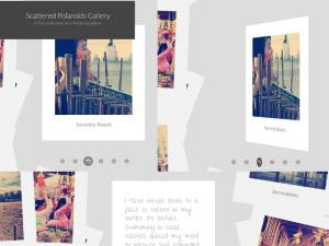 Galerie de polaroids animés par JavaScript - ScatteredPolaroidsGallery