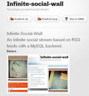 Application open source qui ressemble à Pinterest - Infinite-social-Wall