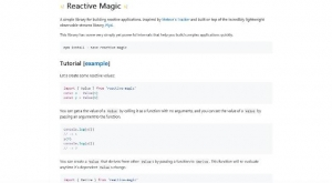 Une Bibliothèque JavaScript pour construire facilement des applications complexes - Reactive Magic