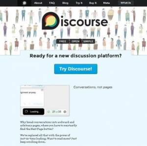 Plateforme de discussion open source codé avec Ruby on Rails - Discourse