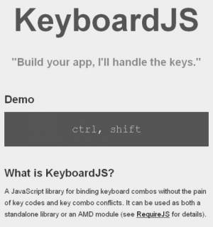 Gestion de clavier avec JavaScript - KeyboardJS